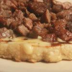 carne asada tacos chorreadas