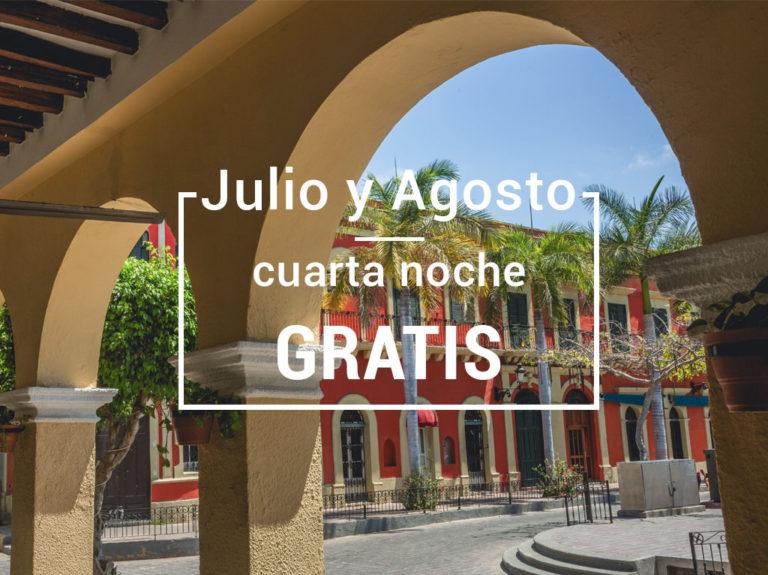 Julio y Agosto cuarta noche gratis